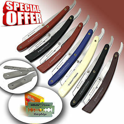 Smart Straight Cut Throat Shavette Shaving Razor Navajas Para Afeitar Free Blade