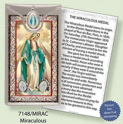 Virgin Mary Our Lady Prayer Card & Colour Medal Statues Candles Pictures Listed