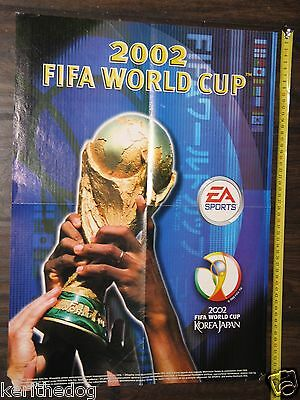 FIFA WORLD CUP 2002 big double sided game poster 55x40 cm