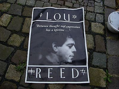 Altes Poster von LOU REED, Between thought and expression lies a lifetime