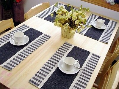 Set of 6 Cotton Rib Table Placemats-- 6 Colours Can Be Chosen From