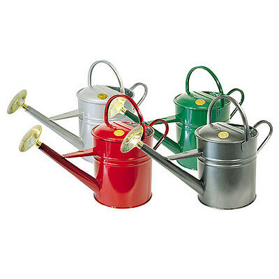 Haws 8.8 Litre Traditional Deluxe Outdoor Metal Watering Can Various Colours