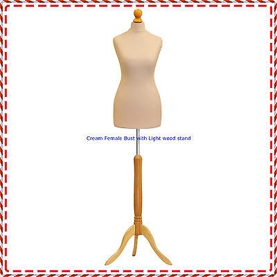 Cream Female Tailors Mannequin Display Dummy For Dressmakers Or Spare Cover