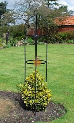 Garden Obelisk Climbing Plants Support Roses Metal Arch 1.9m High