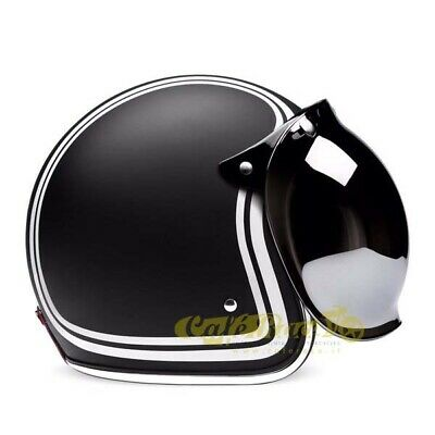 Visiera BUBBLE FLIP-UP silver casco tipo biltwell bandit bolla cafe racer
