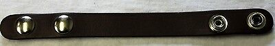 Boston Leather 5456K-1 Belt Keeper Plain Brown Leather With Hidden Handcuff Key