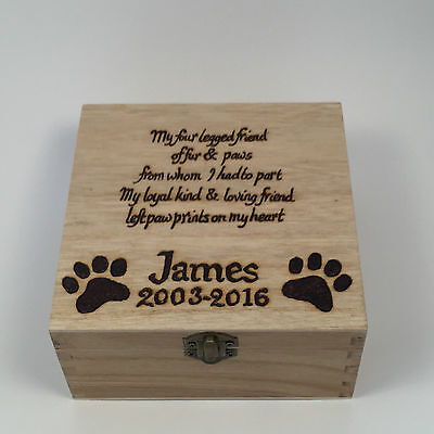 Personalised Pet Memorial Box Dog memorial