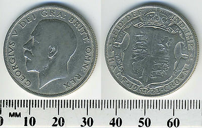 Great Britain 1923 - Half Crown Silver Coin - King George V - #1