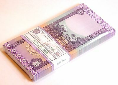 Mint Iraq 50 Dinars P 90 Unc Bundle Of 100 Notes Certified