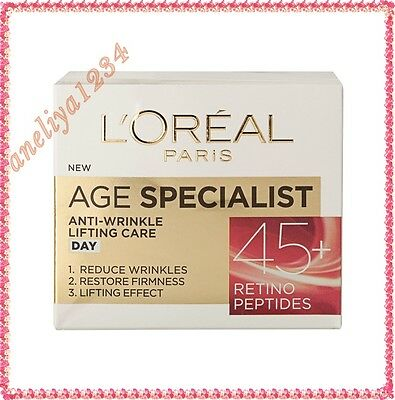 L'Oreal Paris Age Specialist 45+ Day Face Cream Anti-Wrinkle FREE UK DELIVERY