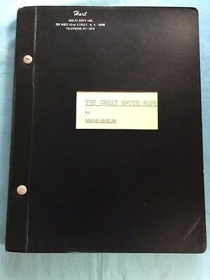 The Great White Hope - Original Play Script For Pulitzer Prize Winning Play
