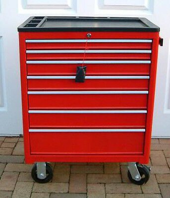 Us Pro Heavy Duty Red Steel Tool Box Chest + Tools Cabinet Finance Available