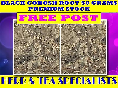 BLACK COHOSH ROOT 50G  PREMIUM STOCK ☆Cimicifuga Racemosa☆DRIED HERB☆ FREE POST