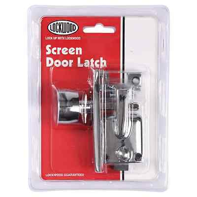 Lockwood Screen Door Latch – Chrome Plated or Satin Chrome Pearl Finish