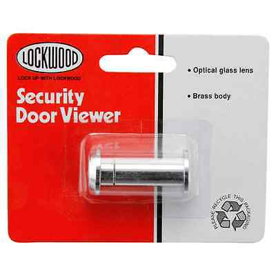 Lockwood Security Optical Glass Lens Door Viewer Brass