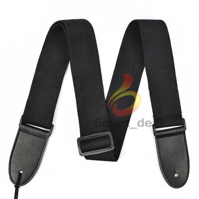 Replacement Adjustable Guitar strap for Acoustic / Electric / Bass Guitars Black