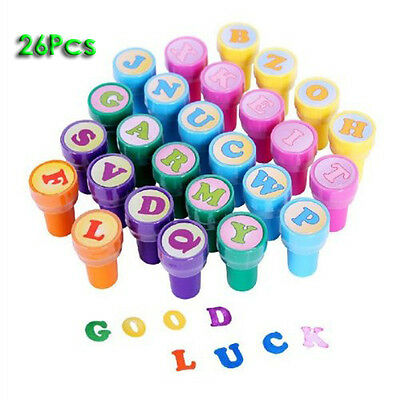 26Pcs Multicolor Plastic Letter Stamp Toy for Kid BF