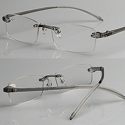 Ultra-High-End Men And Women Reading Glasses Rimless Frame Memory 1.0 to 4.0