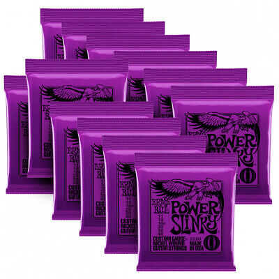 12 Sets Ernie ball 2220 Power Slinky  Electric guitar strings Gauge 11 - 48