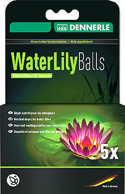 NEW Dennerle Water Lily Balls Pond Plant Fertiliser Growth Root Fertilizer 5 pcs