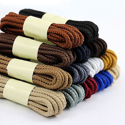 Waxed Shoe Laces Round Thin Dress Shoe Coloured Shoelaces 4mm Foot Rope 1PAIR