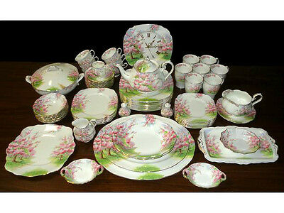 Royal Albert ' Blossom Time '  Tea Set And Tableware - English Bone China
