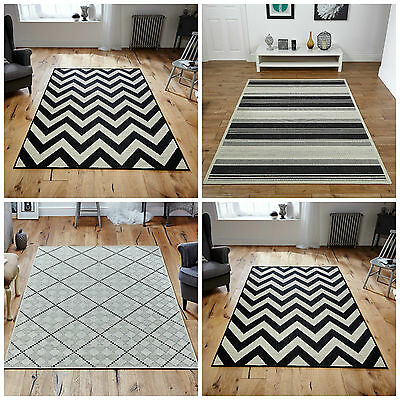 New Malmo Monochrome Modern Quality Rugs Runners Anti Slip Backing