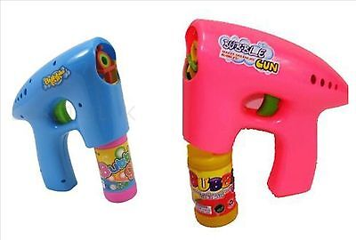 Bubble Gun Shooter with free 2 free bubble solution pink or blue 3+