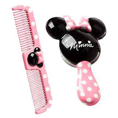 New Charming Baby Disney Minnie Mouse Brush Comb Set Kids Toddler Hair Style Fun