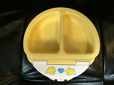 Fisher Price Plastic Kids Divided Dish 1990 Bowls & Plates