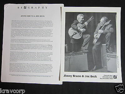 Jimmy Bruno & Joe Beck 'Polarity' 2000 Press Kit--Photo