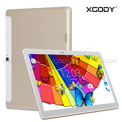 32GB 10,1 ZOLL DUAL SIM 2x Kamera WLAN 3G GPS Android 5.1 HD Tablet PC Gold 10''