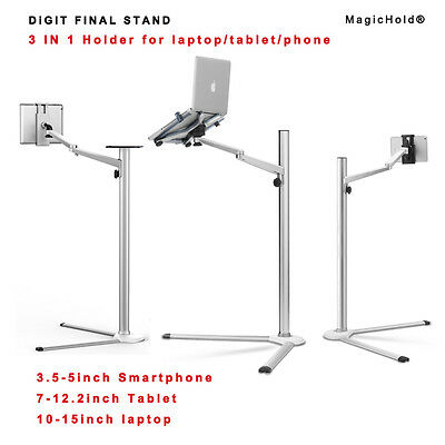 """Magichold® Height adjusting 360º rotate laptop & ipad Pro /tablet(7-13"""") stand"""