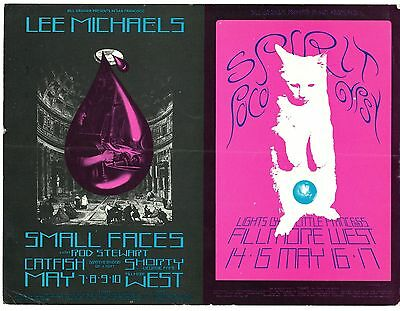 ORIGINAL BG-232/233 Double Postcard LEE MICHAELS, SPIRIT Fillmore 1970 SINGER
