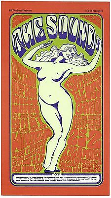 VINTAGE 2ND PRINT BG-29 Postcard JEFFERSON AIRPLANE The Sound 1966 WES WILSON