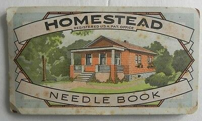 Homestead Needle Book Antique Vintage Sewing Kit Made in Germany