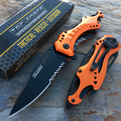 TAC-FORCE Spring Assisted EMT EMS Emergency Rescue Pocket Knife w Bottle Opener