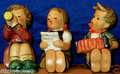 "Lot Of 3 Goebel M. I. Hummel Figurines, ""little Band"", Hum # 389, # 390, # 391"