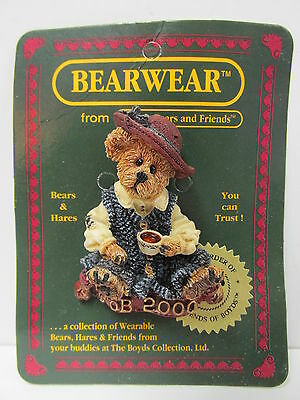 "Boyd's #02000-11 * Bearware Pin ""Caitlin...Fine Cup of Tea"" * MINT * Brand New"