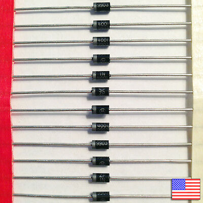 10x (10pcs) 1N4001 Diode - 50V 1A IN4001 - Top Quality - Fast Free US Shipping