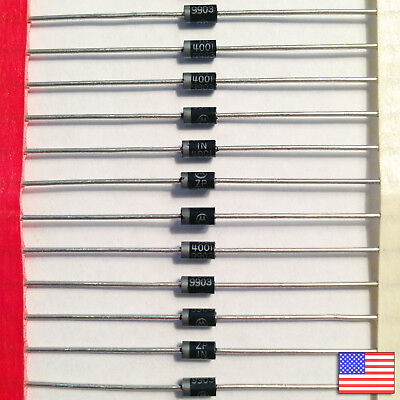 50x (50pcs) 1N4001 Diode - 50V 1A IN4001 - Top Quality - Fast Free US Shipping