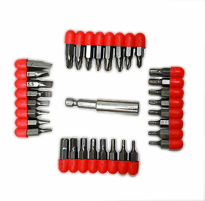 32 PC SCREWDRIVER SET PHILLIPS TORX SLOTTED HEX CRV BITS AND TWEEZERS Set