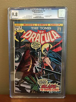 Tomb Of Dracula 10 CGC 9.8 OW/W First appearance of Blade, the vampire slayer