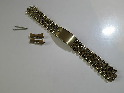 Vintage 20mm Bulova Gold Plated Watch Band