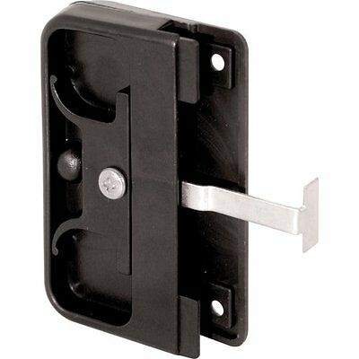 Prime-Line Products 121740 Mortise Style Screen Door Latch and Pull, Black Plast