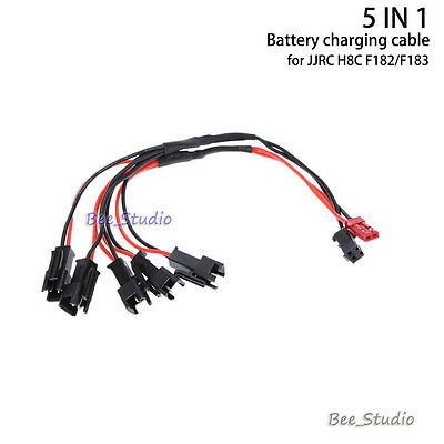 5 IN 1 Battery charging cable charger for JJRC H8C F183 H8D RC Quadcopter Drone