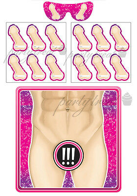 Hens Night Party Supplies Adult Game Bachelorette Girls Night Pin The Macho Man