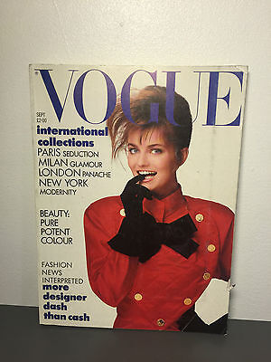 Vogue UK Magazine SEPTEMBER 1987 ISSUE