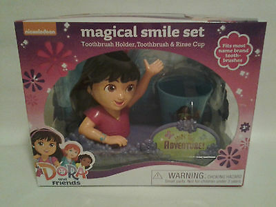 Dora & Friends Magical Smile Set - Toothbrush Holder, Toothbrush & Rinse Cup