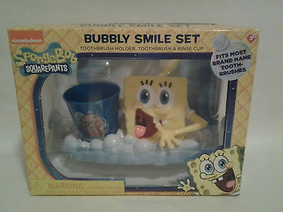 Spongebob Square Pants Bubbly Smile Set Toothbrush Holder, Toothbrush & Cup